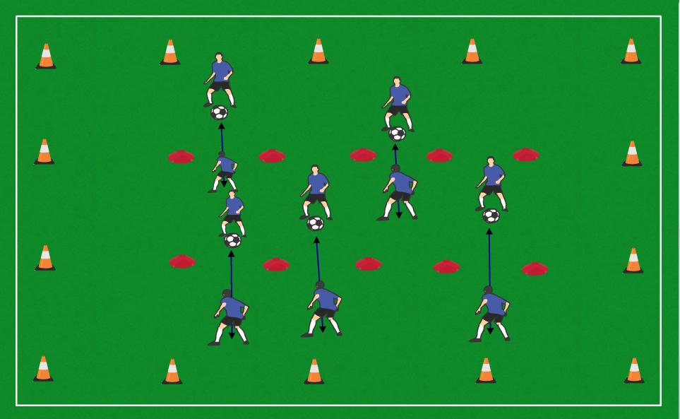 5 Cones Passing 5 Yards
