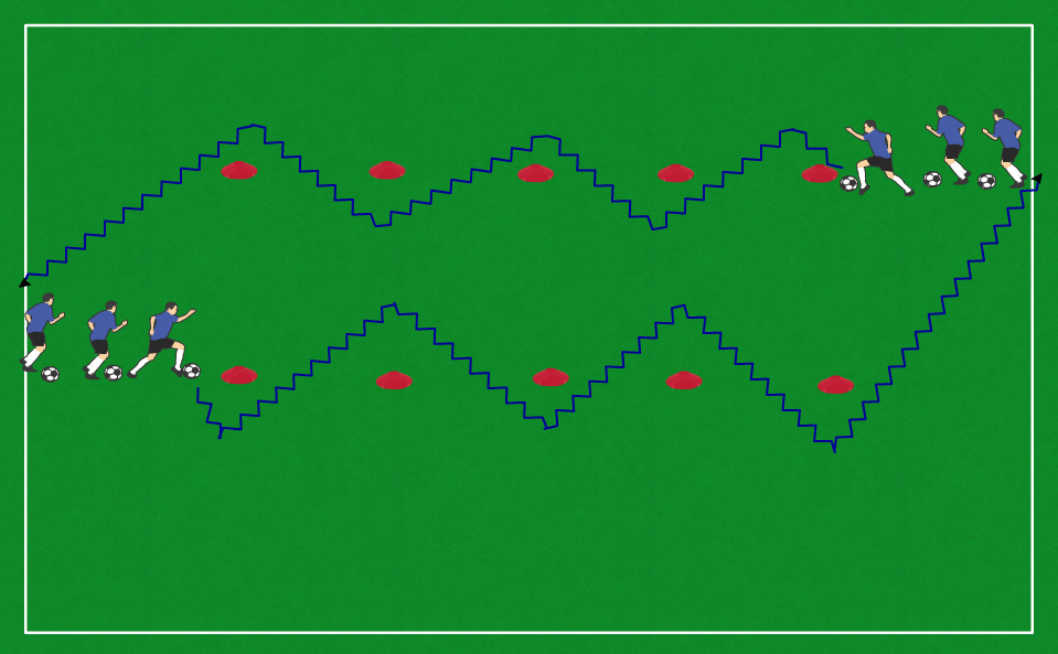 2 lines slalom